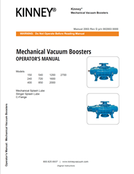 2003 Vacuum Booster 150-2700 Series Manual